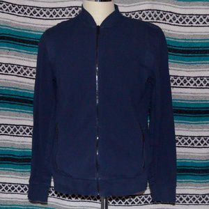 Kenneth Cole Full Zip Sweater Blue Large